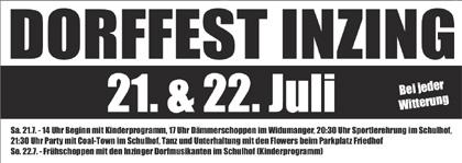 Inzinger Dorffest 21. u. 22. Juli 2012