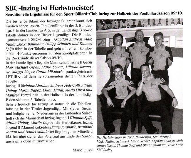 Dorfzeitung Inzing Ausg. 1-2010